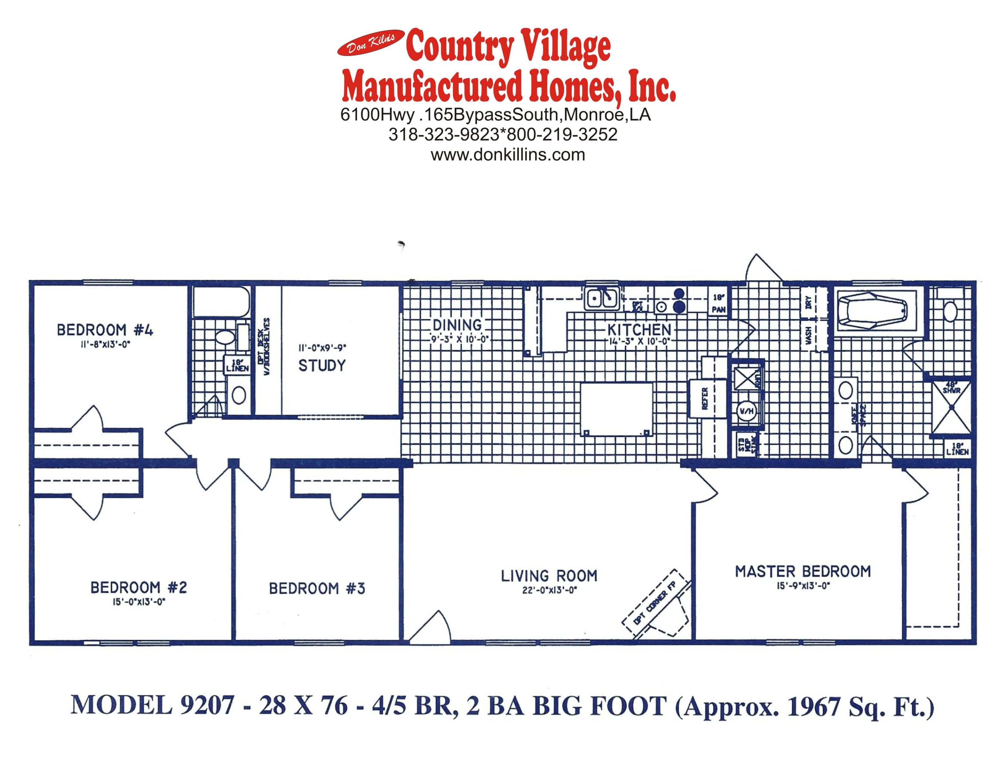 9207 Big Foot 28x76