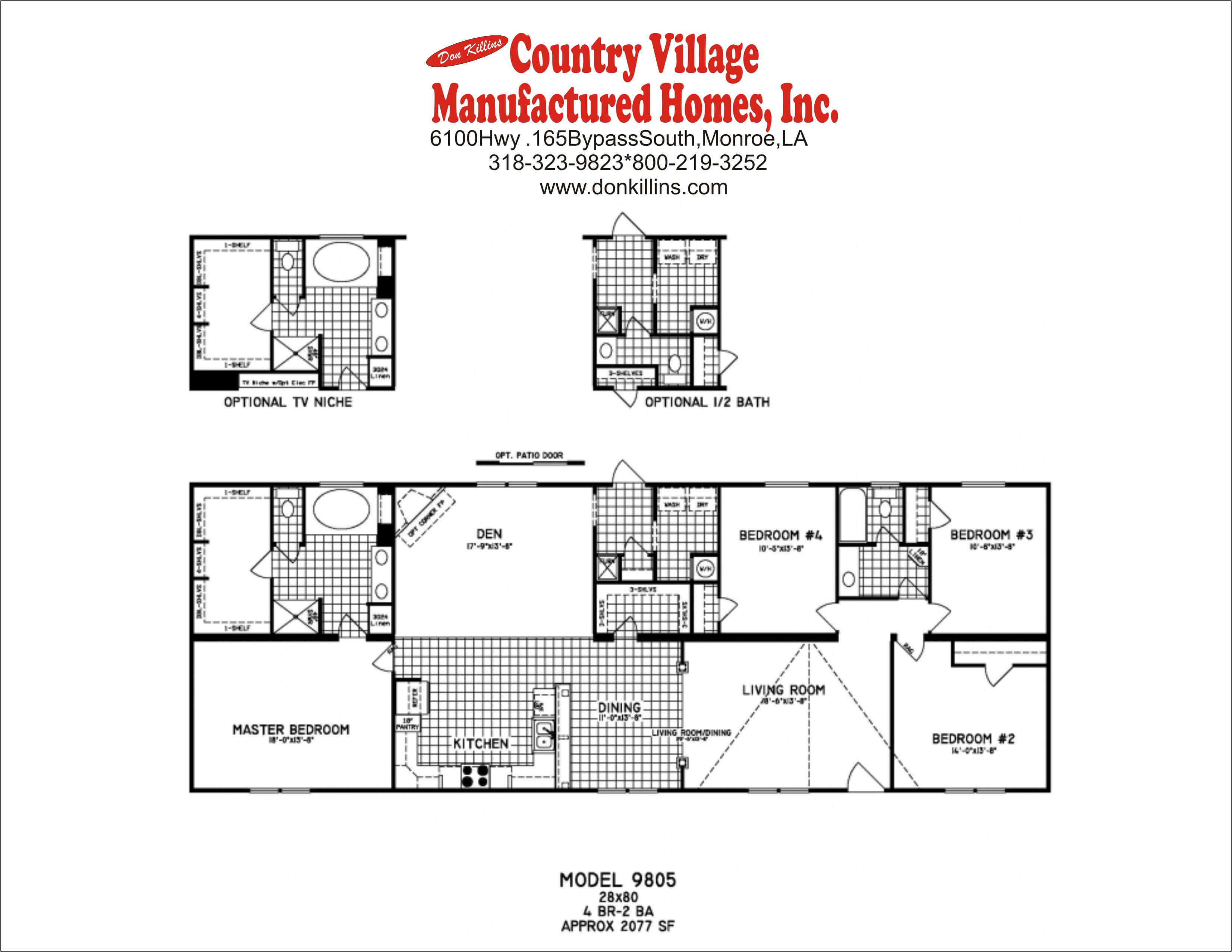 Double Wide Floorplans Don Killins Country Village