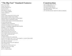Big-Foot-Double-Wide-Standard-Features