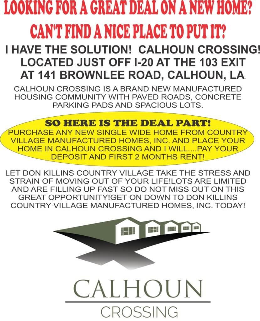 Calhoun Crossing flyer