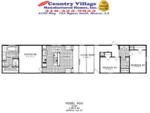 Single Wide Floorplans Don Killins Country Village Manufactured Homes Inc
