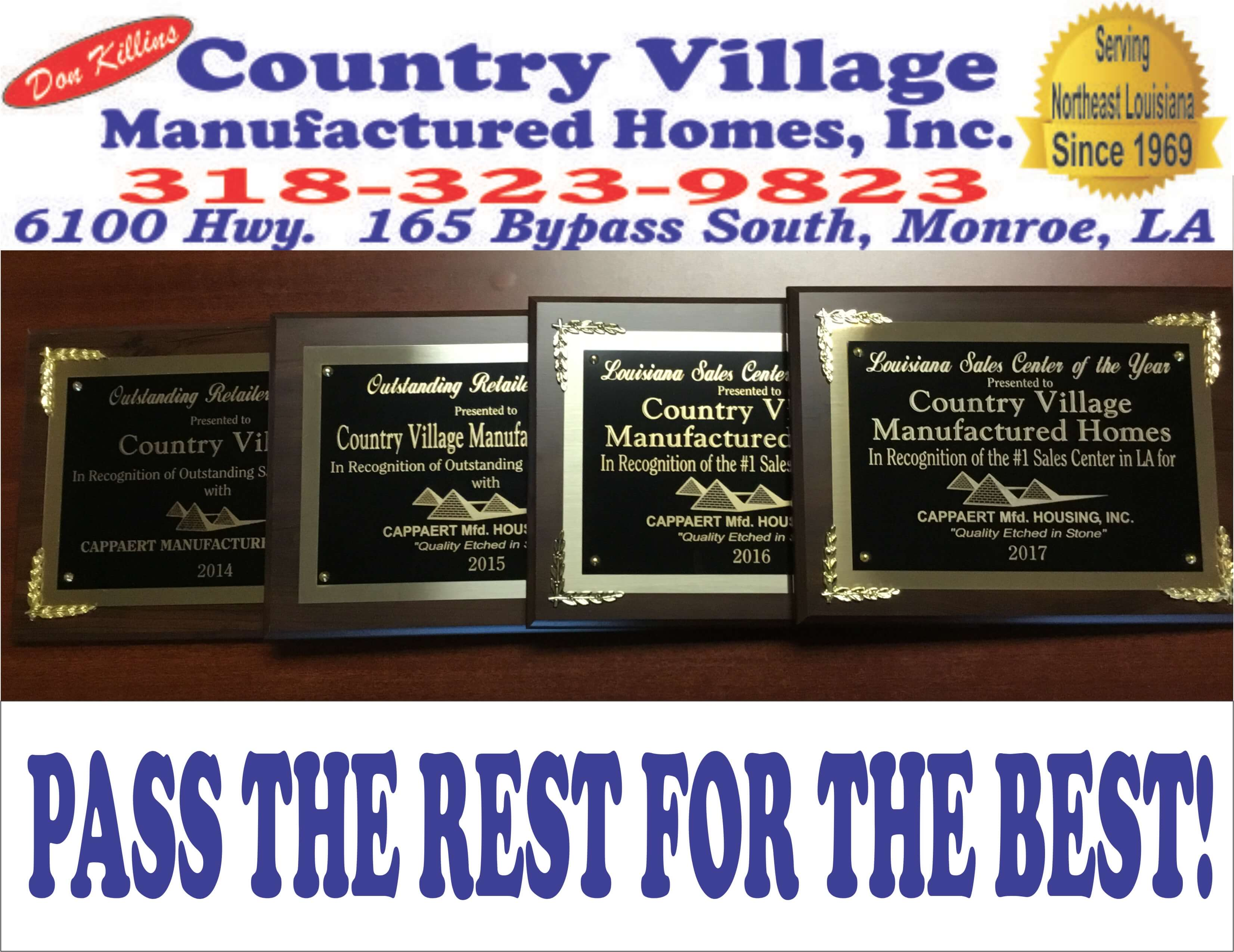 4 YEARS AWARDS PLAQUES