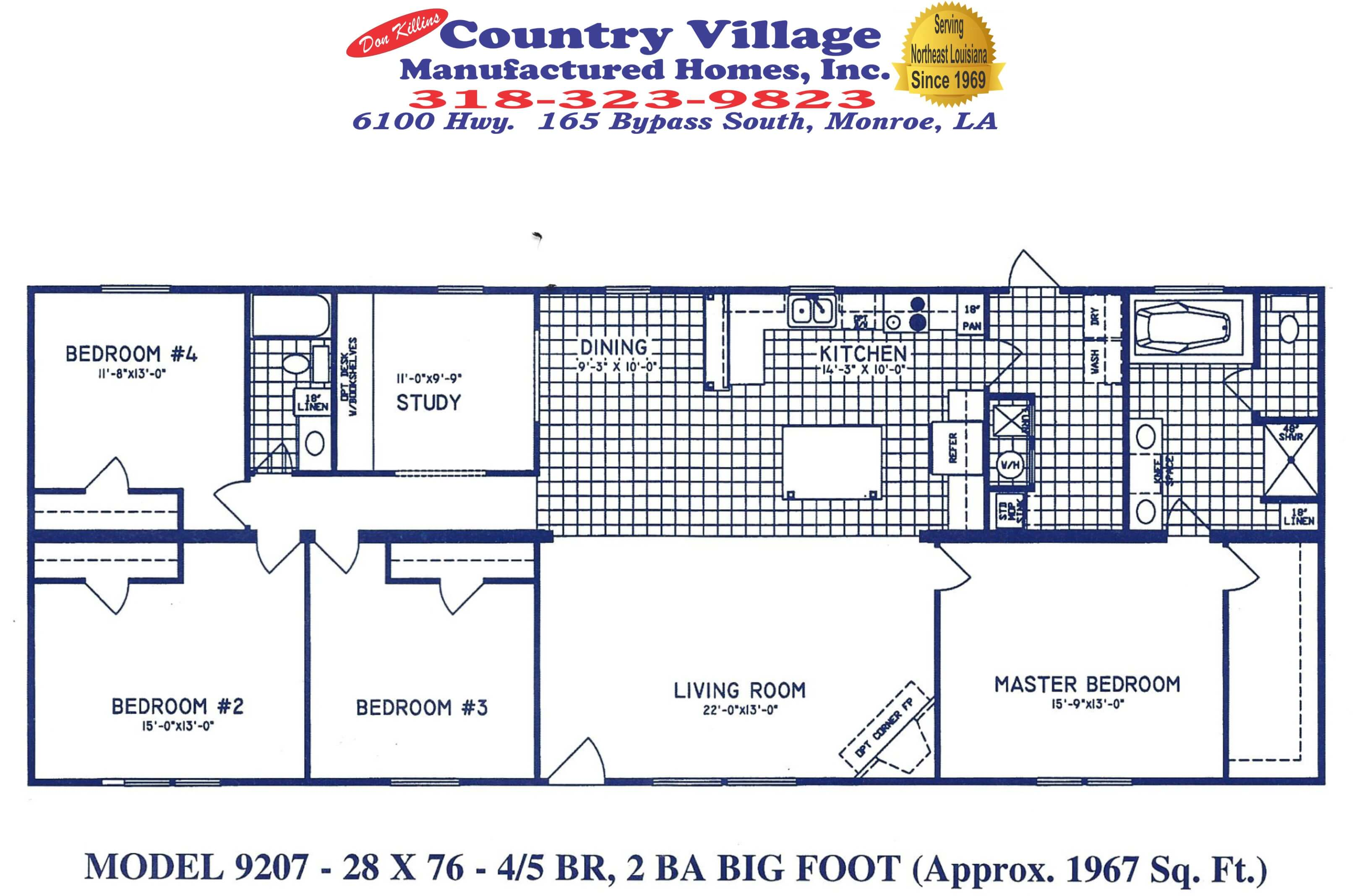 9207 Big Foot 28x76 4+2