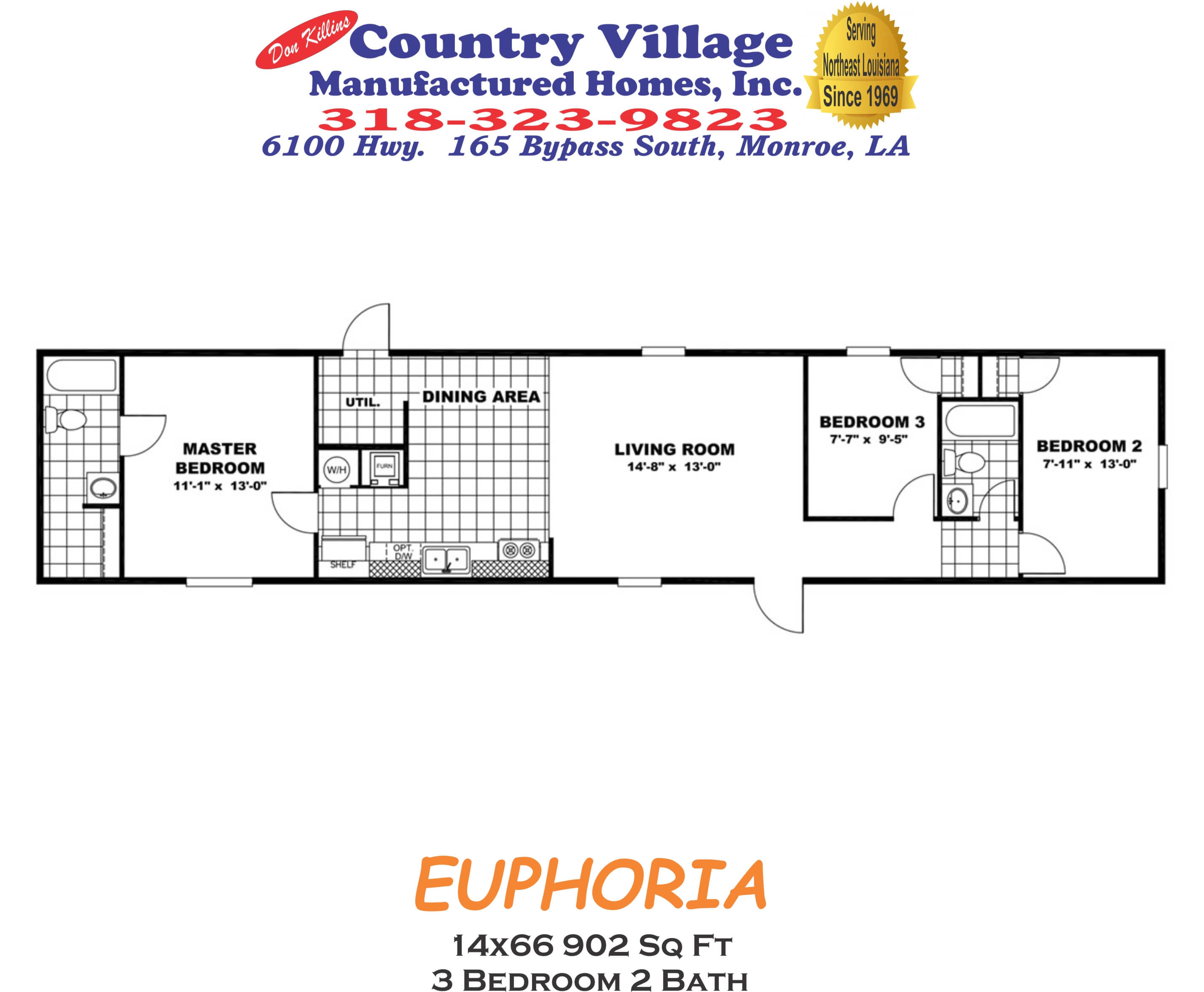 EUPHORIA 14x66 902 sq ft 3+2