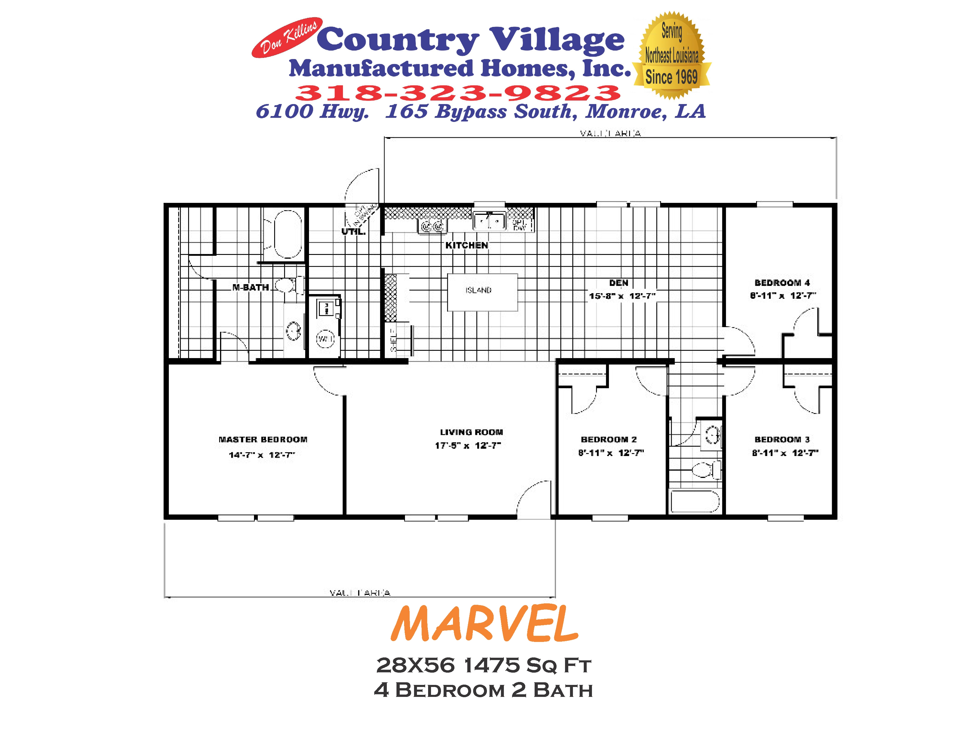 MARVEL 28X56 1475 sq ft 4+2