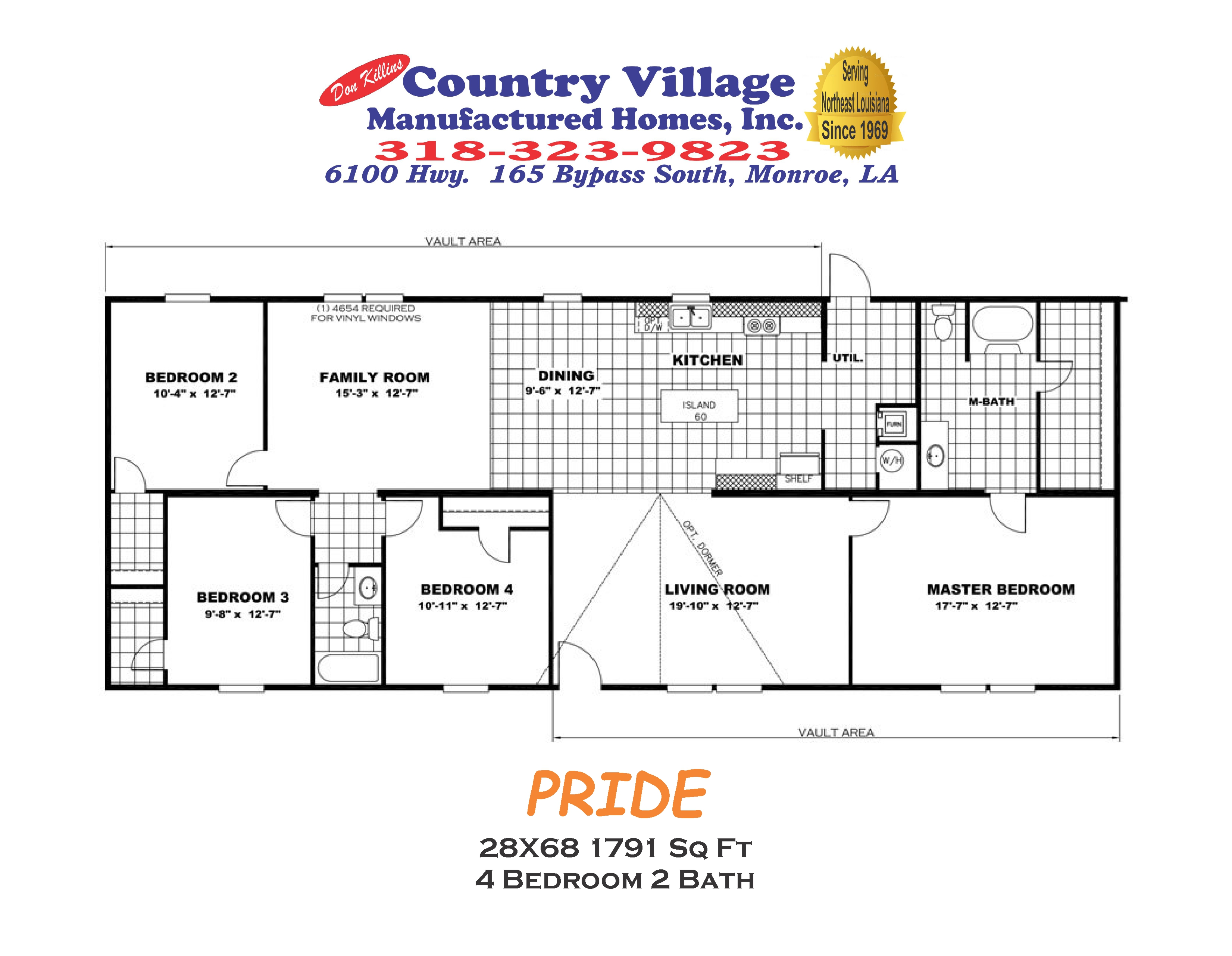 PRIDE 28X68 1791 sq ft 4+2
