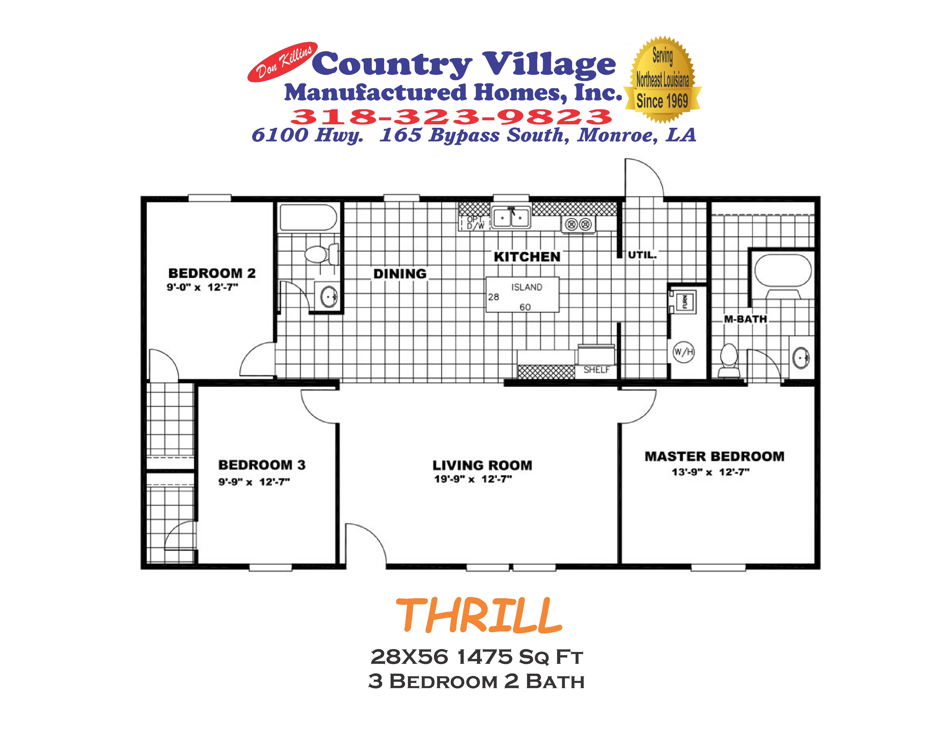 THRILL 28X56 1475 sq ft 3+2