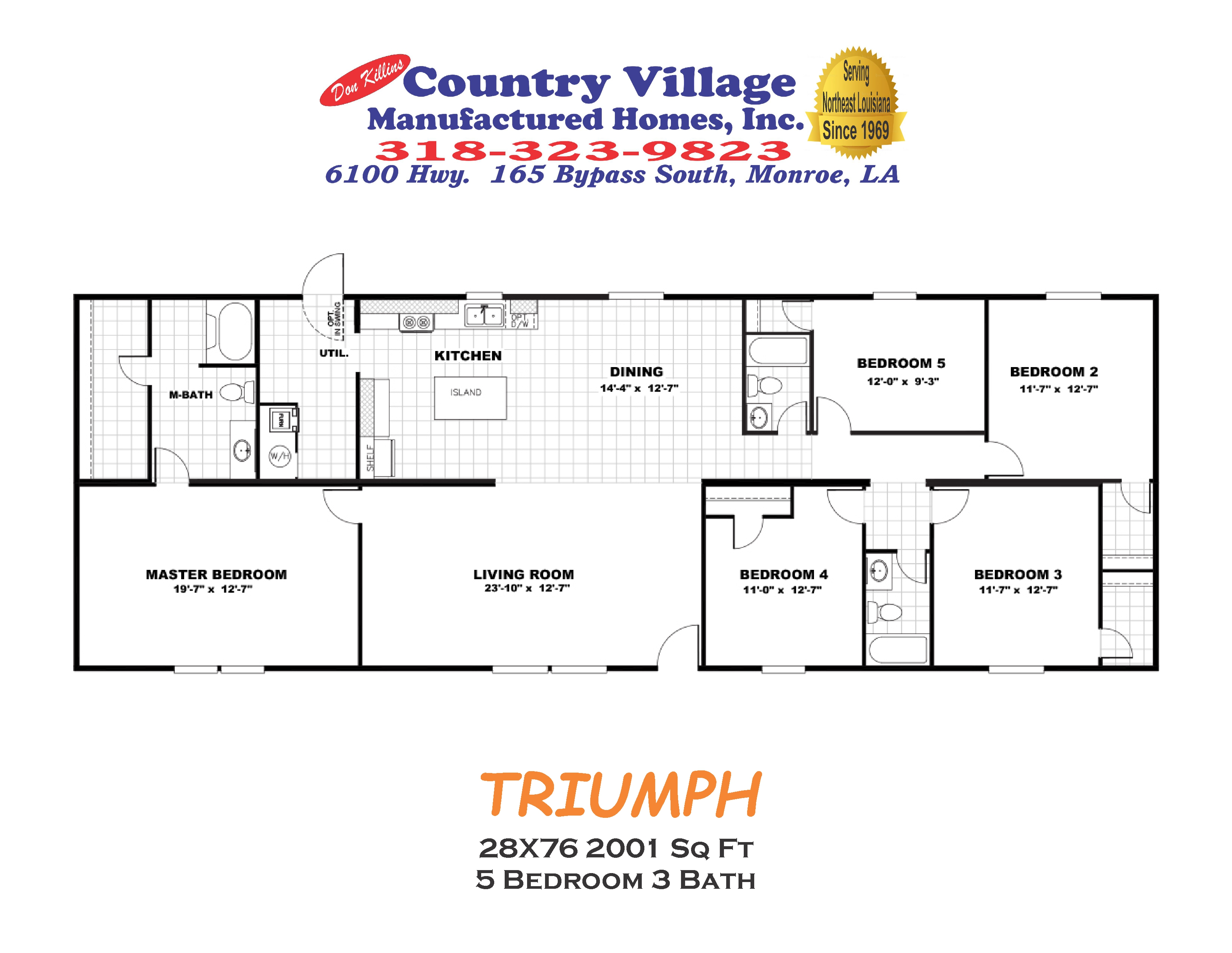 TRIUMPH 28X76 2001 sq ft 5+3