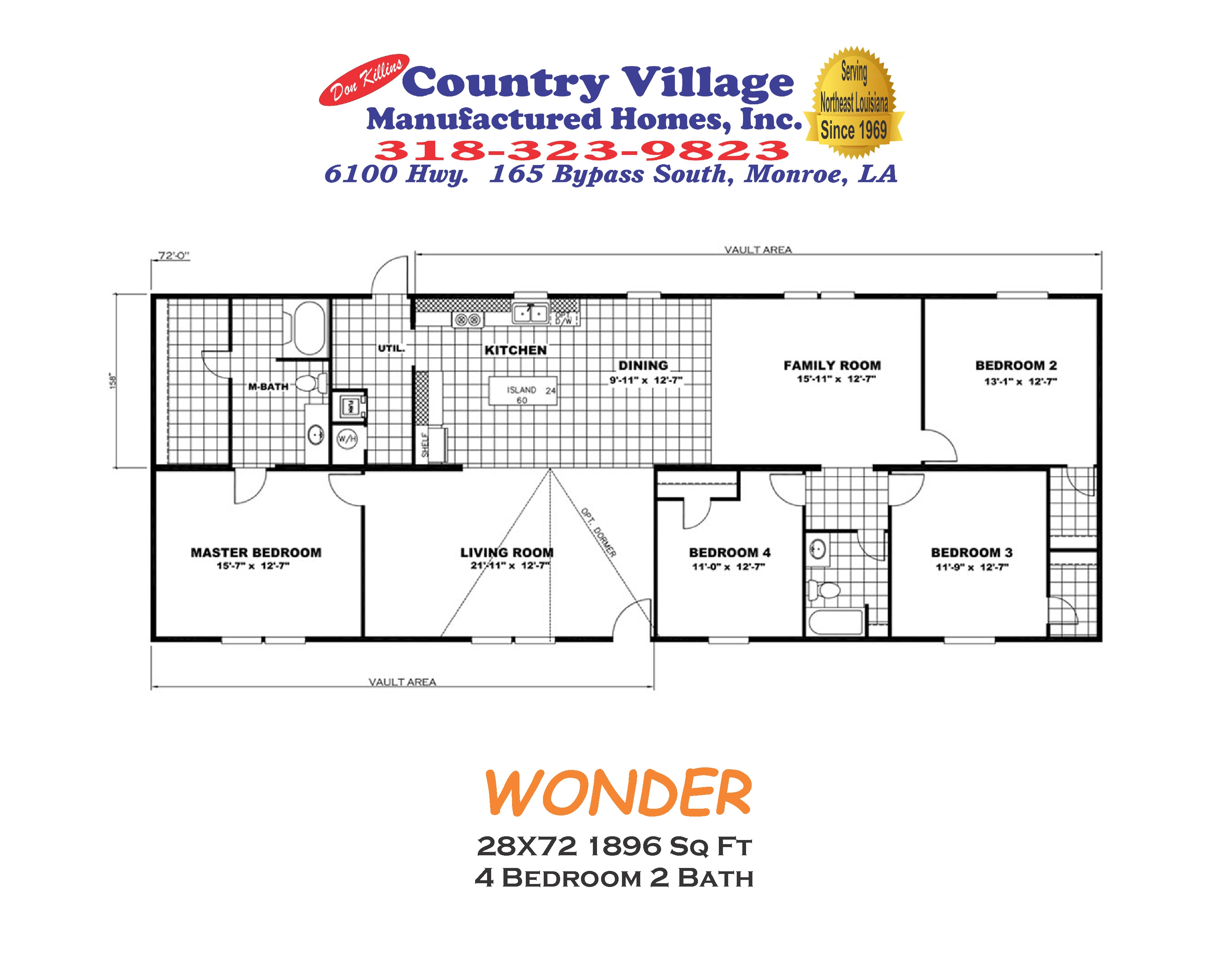 WONDER 28X72 1896 sq ft 4+2